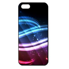 Illustrations Color Purple Blue Circle Space Apple Iphone 5 Seamless Case (black)