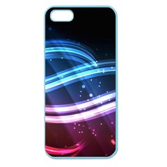 Illustrations Color Purple Blue Circle Space Apple Seamless Iphone 5 Case (color)