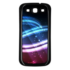 Illustrations Color Purple Blue Circle Space Samsung Galaxy S3 Back Case (black)