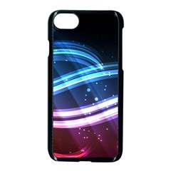 Illustrations Color Purple Blue Circle Space Apple Iphone 7 Seamless Case (black) by Alisyart