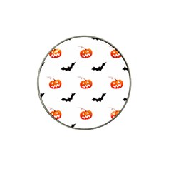 Halloween Seamless Pumpkin Bat Orange Black Sinister Hat Clip Ball Marker (10 Pack)