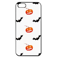 Halloween Seamless Pumpkin Bat Orange Black Sinister Apple Iphone 5 Seamless Case (black)