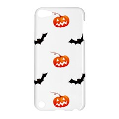 Halloween Seamless Pumpkin Bat Orange Black Sinister Apple Ipod Touch 5 Hardshell Case