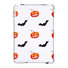 Halloween Seamless Pumpkin Bat Orange Black Sinister Apple Ipad Mini Hardshell Case (compatible With Smart Cover) by Alisyart
