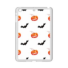 Halloween Seamless Pumpkin Bat Orange Black Sinister Ipad Mini 2 Enamel Coated Cases