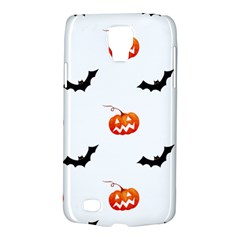 Halloween Seamless Pumpkin Bat Orange Black Sinister Galaxy S4 Active