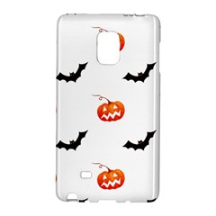 Halloween Seamless Pumpkin Bat Orange Black Sinister Galaxy Note Edge by Alisyart
