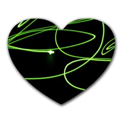 Light Line Green Black Heart Mousepads by Alisyart