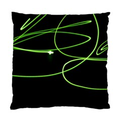 Light Line Green Black Standard Cushion Case (two Sides)