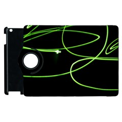 Light Line Green Black Apple Ipad 2 Flip 360 Case by Alisyart
