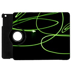 Light Line Green Black Apple Ipad Mini Flip 360 Case