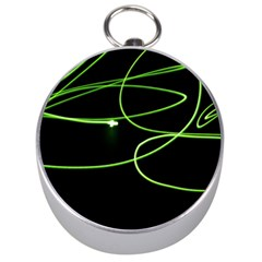 Light Line Green Black Silver Compasses by Alisyart