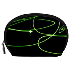 Light Line Green Black Accessory Pouches (large)