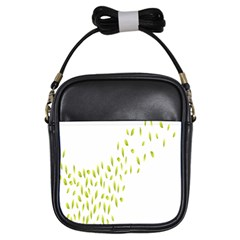 Leaves Leaf Green Fly Landing Girls Sling Bags