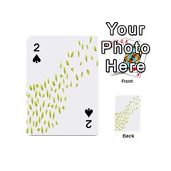 Leaves Leaf Green Fly Landing Playing Cards 54 (mini)  by Alisyart