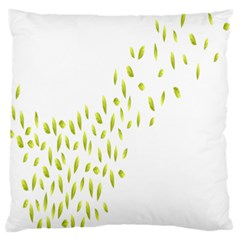 Leaves Leaf Green Fly Landing Standard Flano Cushion Case (one Side)