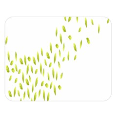 Leaves Leaf Green Fly Landing Double Sided Flano Blanket (large)  by Alisyart