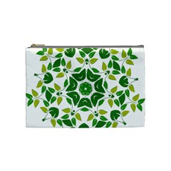Leaf Green Frame Star Cosmetic Bag (medium)