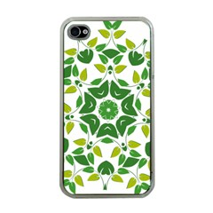 Leaf Green Frame Star Apple Iphone 4 Case (clear)
