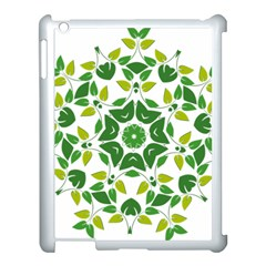 Leaf Green Frame Star Apple Ipad 3/4 Case (white)