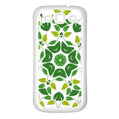 Leaf Green Frame Star Samsung Galaxy S3 Back Case (white)