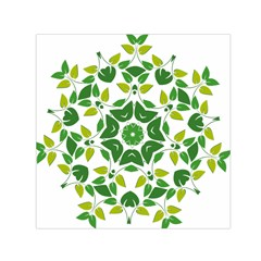 Leaf Green Frame Star Small Satin Scarf (square)