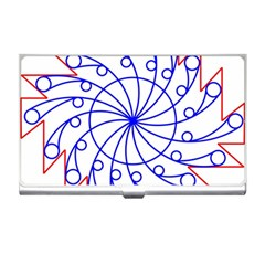 Line  Red Blue Circle Business Card Holders by Alisyart