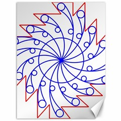 Line  Red Blue Circle Canvas 36  X 48   by Alisyart