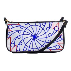 Line  Red Blue Circle Shoulder Clutch Bags