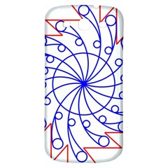 Line  Red Blue Circle Samsung Galaxy S3 S Iii Classic Hardshell Back Case by Alisyart