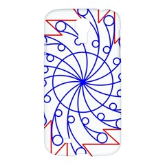 Line  Red Blue Circle Samsung Galaxy S4 I9500/i9505 Hardshell Case