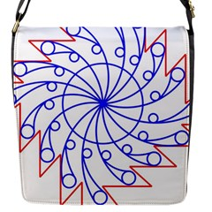 Line  Red Blue Circle Flap Messenger Bag (s) by Alisyart
