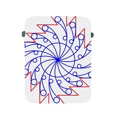 Line  Red Blue Circle Apple Ipad 2/3/4 Protective Soft Cases by Alisyart