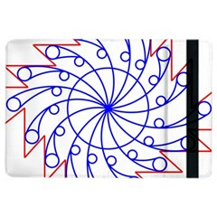 Line  Red Blue Circle Ipad Air 2 Flip by Alisyart