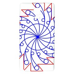 Line  Red Blue Circle Galaxy Note 4 Back Case by Alisyart