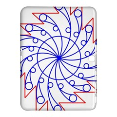 Line  Red Blue Circle Samsung Galaxy Tab 4 (10 1 ) Hardshell Case  by Alisyart