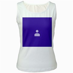 Man Grey Purple Sign Women s White Tank Top
