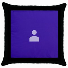 Man Grey Purple Sign Throw Pillow Case (black)