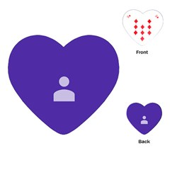 Man Grey Purple Sign Playing Cards (heart)  by Alisyart