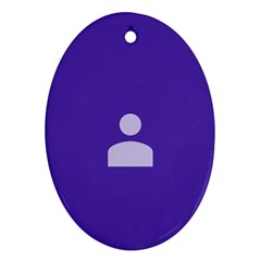 Man Grey Purple Sign Oval Ornament (two Sides)