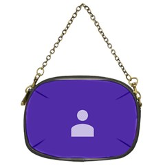 Man Grey Purple Sign Chain Purses (two Sides)  by Alisyart