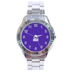 Man Grey Purple Sign Stainless Steel Analogue Watch by Alisyart
