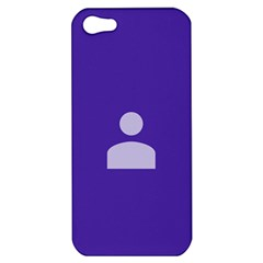 Man Grey Purple Sign Apple Iphone 5 Hardshell Case