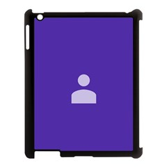 Man Grey Purple Sign Apple Ipad 3/4 Case (black)