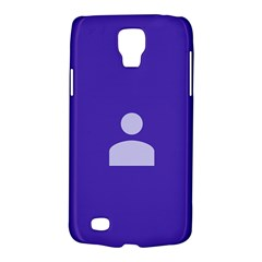Man Grey Purple Sign Galaxy S4 Active by Alisyart