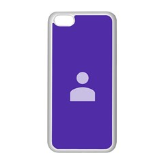 Man Grey Purple Sign Apple Iphone 5c Seamless Case (white) by Alisyart