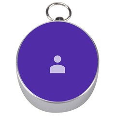 Man Grey Purple Sign Silver Compasses