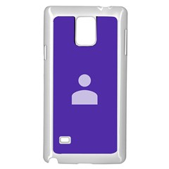Man Grey Purple Sign Samsung Galaxy Note 4 Case (white) by Alisyart