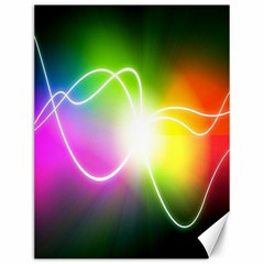 Lines Wavy Ight Color Rainbow Colorful Canvas 12  X 16