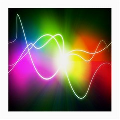Lines Wavy Ight Color Rainbow Colorful Medium Glasses Cloth (2 Side)
